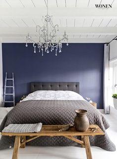 grijs blauw wit more blauw slaapkamer slaapkamer paars masterbedroom ...