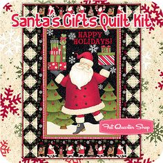 Santa's Gifts Quilt Kit Featuring Santa's Gifts by Debbie Mumm