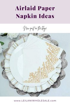 Yes, you can use paper napkins for your event! Airlaid napkins are much more durable and absorbent than regular napkins or paper towels, and they are perfect for wedding, birthday, or any other special celebration! #tabledecor Wedding Cocktail Napkins, Paper Dinner Napkins, Party Table Decorations, Holiday Decorations, Sophisticated Wedding, Holidays And Events, Hand Towels, Decorative Accessories, Vintage Designs