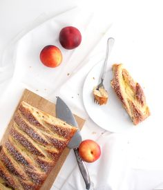 Nectarines and Cream Breakfast Loaf - The Simple, Sweet Life