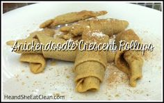 Clean Eat Recipe :: Clean Snickerdoodle Crescent Rollups #eatclean #cleaneating #heandsheeatclean #dessert #cookie #treat