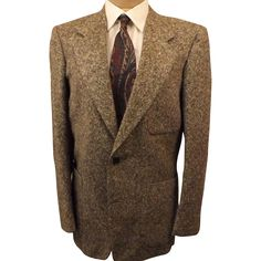 70's Chevoit Tweed Sport Coat Jacket in Gray Size 40R from the-elegance-of-shamae on Ruby Lane