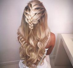 #braid #halfup #hairstyle www.haarallerliebst.de