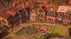cottagecore minecraft Casa Medieval Minecraft, Minecraft Mansion, Cute Minecraft Houses, Minecraft House Tutorials, Minecraft Castle, Minecraft Room, Minecraft Plans, Minecraft House Designs, Amazing Minecraft