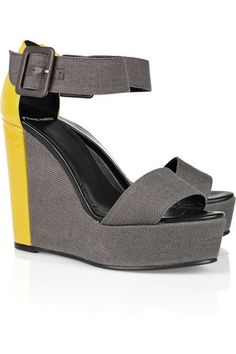 These wedges are perfect for the colour blocking theme that is dominant this spring.