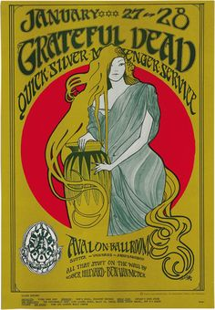 Art Nouveau insipired band poster... http://dvp14a235i3p5.cloudfront.net/wp-content/uploads/StanleyMouse_GratefulDeadPoster_HA.jpg
