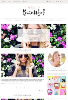 Hello Beautiful is a Modern and clean wordpress genesis child theme, built on the Genesis Framework and looks amazing on laptops, desktops, cellphones