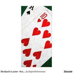 Blackjack 21 point - Ace, Ten Card