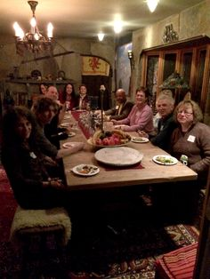 Some of our members in Dr. Van's amazing Dining Room