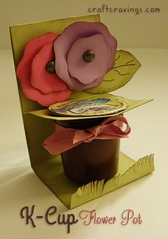 The Cutest K-Cup Holder on the Block (tutorial) - Craft Cravings K Cup Crafts, Crafts To Do, Diy Craft Projects, Craft Tutorials, Crafts For Kids, Paper Crafts, Paper Paper, Craft Gifts, Diy Gifts