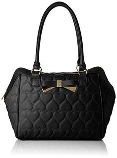 Women's Top-Handle Handbags - Betsey Johnson Be Mine East West Satchel Bag Black One Size >>> You can get additional details at the image link.