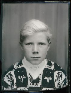 +~ Vintage Photo Booth Picture ~+ Young Swiss boy
