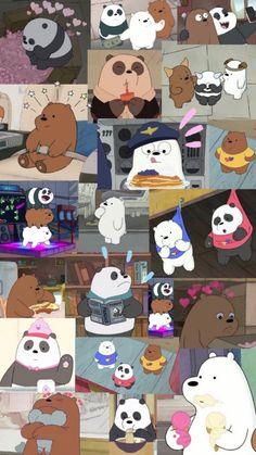 we bare bears Cute Panda Wallpaper, Crazy Wallpaper, Cartoon Wallpaper Iphone, Disney Phone Wallpaper, Bear Wallpaper, Kawaii Wallpaper, Cute Wallpaper Backgrounds, Aesthetic Iphone Wallpaper, We Bare Bears Wallpapers