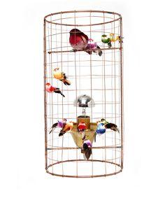 Mathieu Challières Mini Volière Bird Cage Table Lamp   Lighting by Mathieu Challières   Liberty.co.uk
