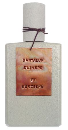 Kerosene Santalum Slivers // Santalum Slivers drives summer citrus juices into the depths of sandalwood, and with the addition of cucumber and rose, the wood breathes like fresh air among an orchard.    Notes: Sandalwood, Musk, Vetiver, Cedar, Cucumber, Hay, Pepper, Rose, Bergamot, Italian Lemon, Orange and Grapefruit. $140 http://tinyurl.com/7wnggyr