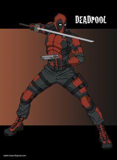 #Deadpool #Fan #Art. (Deadpool) By: Khazen. (THE * 5 * STÅR * ÅWARD * OF * MAJOR ÅWESOMENESS!!!™) [THANK U 4 PINNING!!!<·><]