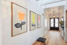 Hallway Art, Long Hallway, Hallway Ideas, Hallway Walls, Hallway Decorating, Decorating Ideas, Silk Screen Printing, Home Reno, Design Trends
