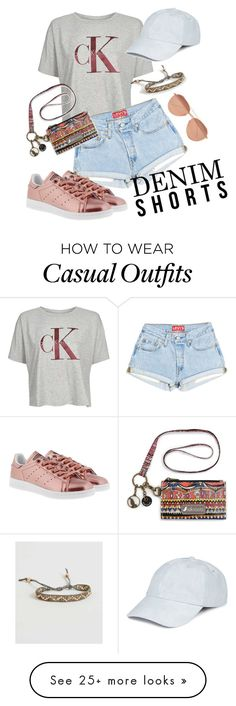 """Casual summer day"" by hkcrist on Polyvore featuring Calvin Klein, adidas Originals, BKE, Celebrate Shop and Linda Farrow"