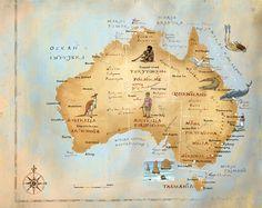 Australia map by Kapitan Kamikaze - Adam Pękalski