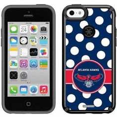 Atlanta Hawks Polka Dots Design on Apple iPhone 5c CandyShell Case by Speck