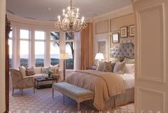 """""""View this Great Traditional Master Bedroom with Chandelier & Crown molding by Marc-Michaels Interior Design. Discover & browse thousands of other home design ideas on Zillow Digs."""""""
