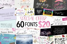 Font Bundle // by Joanne Marie // Creative Market // This bundle contains different font styles from calligraphy to brush lettering to hand lettering plus more! Many of them have alternates and swashes, even some doodles thrown in there. Brush Script, Brush Lettering, Calligraphy Fonts, Script Fonts, Handwriting Fonts, Humble Heart, Font Design, Graphic Design, Photography Logo Design