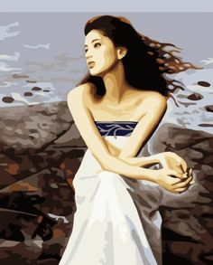 Hand-painted Figure Oil Painting - Beautiful Girl  $39.99