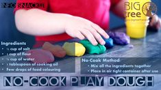 Follow this quick and easy method of creating instant play dough. Let the hours of fun begin! Motor Coordination, Play Dough, Daily Activities, Cooking Oil, Fine Motor, Snacks, Easy, Fun, Everyday Activities