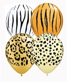 """Safari animal jungle 11"""" #latex balloons x 5 #leopard birthday #party decoration,  View more on the LINK: http://www.zeppy.io/product/gb/2/182130421479/"""