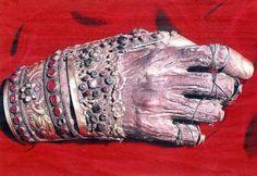 Detalle de la mano incorrupta de San Juan Crisóstomo - Monasterio Philoteou, Monte Athos (Grecia).
