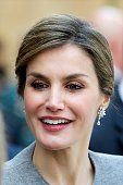 Queen Letizia of Spain attends investiture of honorary doctors by Salamanca's University at Paraninfo of Salamanca's University on April 5 2016 in Salamanca, Spain.