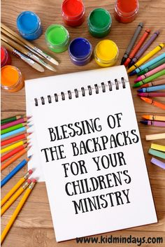 """Are you looking for a back-to-school lesson for your Children's Ministry? One fun way to get kids back into the swing of things is by doing a """"Blessing of the Backpacks"""". This s…"""