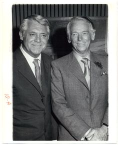 Douglas Fairbanks Jr. met in London after he starred in London play.  Here with Cary Grant