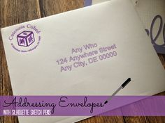 Silhouette School: Addressing Envelopes with Silhouette Sketch Pens