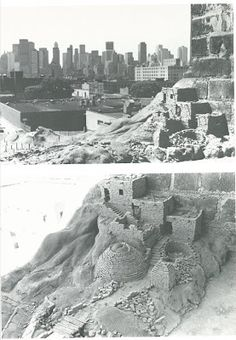 Charles Simonds, Dwelling,  clay and found building, in Rooms (P.S.1) 1976 (see details in PATRICK IRELAND post)