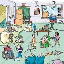 Heath and safety hazards cartoon. Hazards in a care home environment. Spot the health and safety hazards cartoon. Numerous health and safety hazards illustrated in a cartoon. Health and safety cartoon for training purposes - ask your staff how many hazard Safety Cartoon, Safety Posters, Workplace Safety, Safety First, Safety And Security, Health And Safety, Getting Old, Cool Photos, Assessment