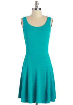 Stunning Simplicity Dress. Looking cute on even the most laid-back afternoon is a breeze in this teal dress! #blue #modcloth