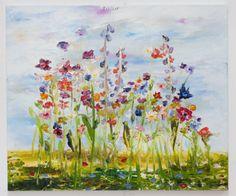 """Be happy, 2013"" by Peter Keizer - oil on canvas, 90 x 105 cm #Flowers #Field #Daisy #Poppy"