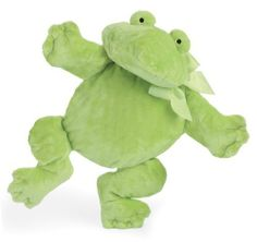 North American Bear Company Flatofrog, Green, Medium by North American Bear. $10.63. Embroidered facial features. Machine washable. Green ribbon bow. Safe for all ages. Made of lush soft silky plush. From the Manufacturer                A baby classic in bright, silky soft lush plush with embroidered facial features and ribbon accent. Oppenheim toy portfolio gold seal winner.                                    Product Description                North American Bear Company...