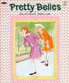 Pretty Belles Paper Dolls. The Pretty Belles Paper Dolls are Whitman #1966 Paper Dolls set from 1965.