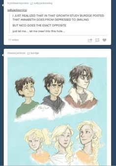 Poor nico.:(  by the way:  Reread the last Olympian. Nico refers to finding hazel. We didn't know, but he does.