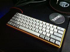 KBC Poker II Cherry MX Brown with Granite keycap set, custom painted case