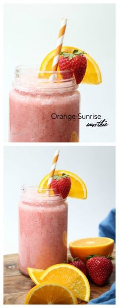 Recipes Breakfast Drink And Beverage Recipes This Healthy Breakfast Recipe Can Be Easy As One, Two, Three And By That I Mean, There Are Only Three Ingredients In This Delicious Orange Sunrise Smoothie Recipe. Yummy Smoothies, Breakfast Smoothies, Smoothie Recipes, Homemade Smoothies, Yogurt Smoothies, Vitamix Recipes, Eat Breakfast, Diabetic Recipes, Drink Recipes