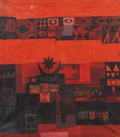 Símbolos antiguos de 1964 por Dia Azzawi