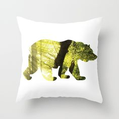 @paisleyprintsonline $20.00 http://society6.com/product/bear-x29_pillow#25=193&18=126