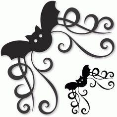 Silhouette Online Store - View Design #48669: bat corner flourish