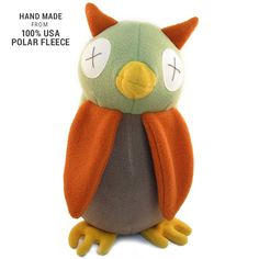 Handmade Softy Owl Stuffed Animal (100% USA Polar Fleece)