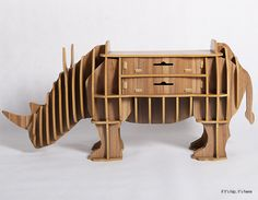 Rhino console table with drawers
