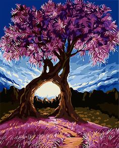Garden lovers and nature lovers will love these beautiful Love Trees paint by number kit. Release your stress and Express your creativity. Shop hundreds of Paint by Number Kits for Adults at our store. Diy Painting, Painting & Drawing, Painting Canvas, Painting Trees, Art Amour, Art Mural, Tree Art, Oeuvre D'art, Painting Inspiration