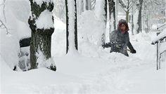 Beacon Hill, Boston MA Feb 9 2013 East Coast snowstorm, Blizzard Nemo